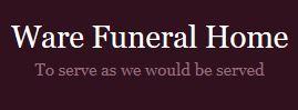 ware funeral logo